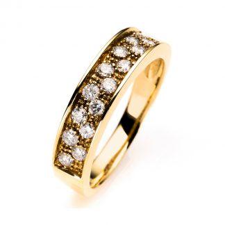 18 kt sárga arany több köves gyűrű 16 gyémánttal 1A019G853-1