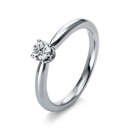 18 kt  solitaire with 1 diamond 1N275WP853-2
