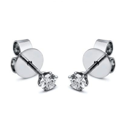 18 kt  studs with 2 diamonds 2F651WP8-2