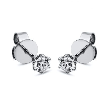 18 kt  studs with 2 diamonds 2F654WP8-3