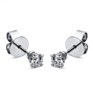 18 kt  studs with 2 diamonds 2F657WP8-1