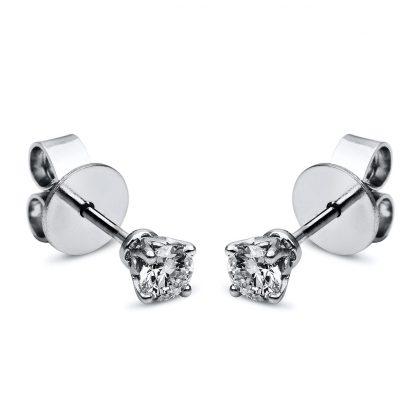 18 kt  studs with 2 diamonds 2F657WP8-1