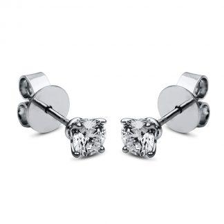 18 kt  studs with 2 diamonds 2F660WP8-1