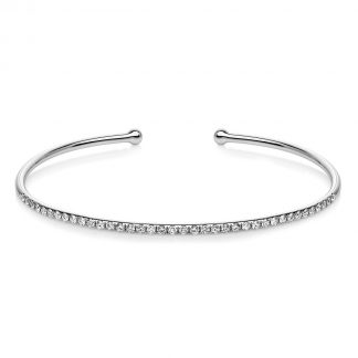 18 kt white gold bangle with 38 diamonds 6A347W8-2