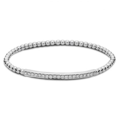 18 kt white gold bracelet with 20 diamonds 5A003W8-1