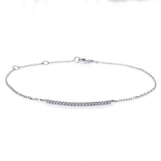 18 kt white gold bracelet with 20 diamonds 5A539W8-1