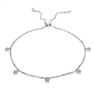 18 kt white gold bracelet with 30 diamonds 5A880W8-1