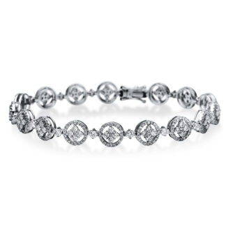 18 kt white gold bracelet with 389 diamonds 5B892W8-1