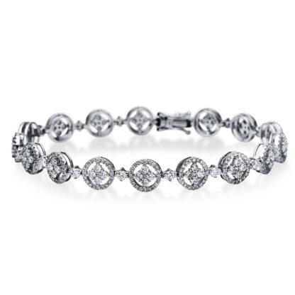 18 kt white gold bracelet with 389 diamonds 5B892W8-1