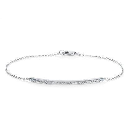 18 kt white gold bracelet with 40 diamonds 5A421W8-2