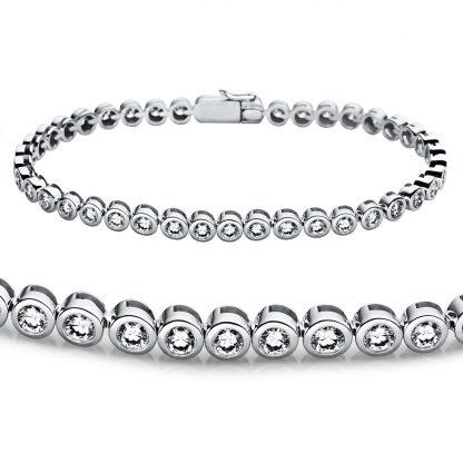 18 kt white gold bracelet with 42 diamonds 5A225W8-2