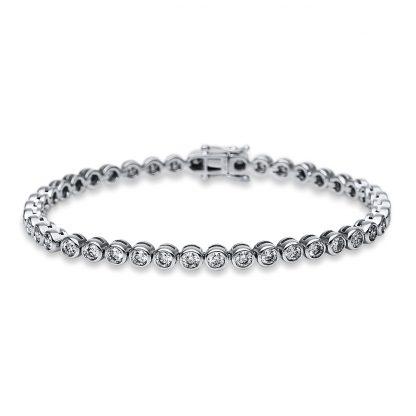18 kt white gold bracelet with 42 diamonds 5B516W8-1