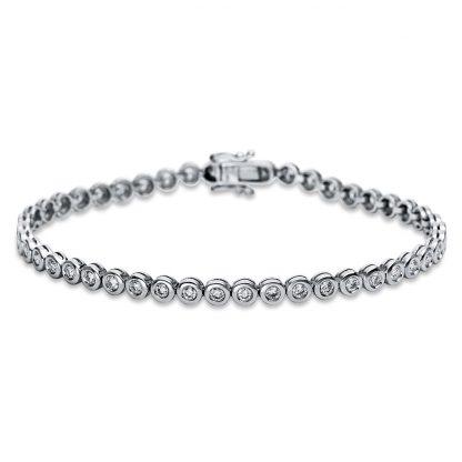 18 kt white gold bracelet with 46 diamonds 5B705W8-1