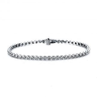 18 kt white gold bracelet with 53 diamonds 5A005W8-1