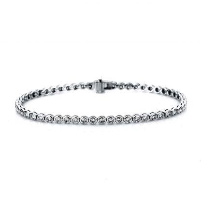 18 kt white gold bracelet with 53 diamonds 5A005W8-1