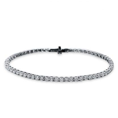 18 kt white gold bracelet with 63 diamonds 5B540W8-1