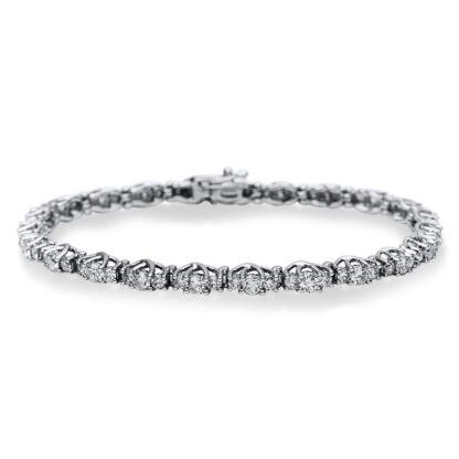 18 kt white gold bracelet with 68 diamonds 5B891W8-1