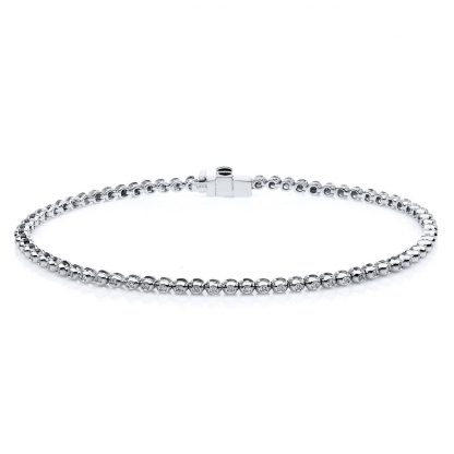18 kt white gold bracelet with 72 diamonds 5A266W8-1