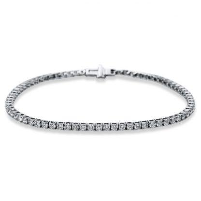 18 kt white gold bracelet with 73 diamonds 5B538W8-1