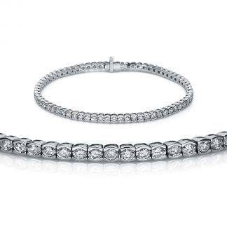 18 kt white gold bracelet with 74 diamonds 5A145W8-2
