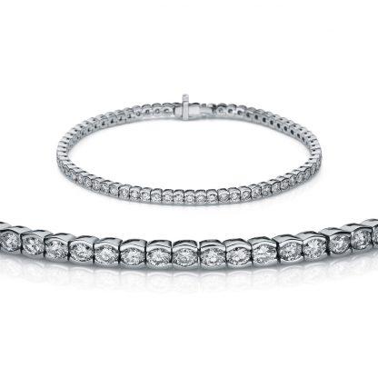 18 kt white gold bracelet with 74 diamonds 5A145W8-2
