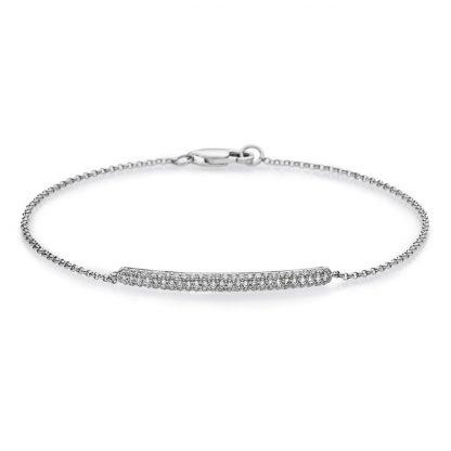 18 kt white gold bracelet with 76 diamonds 5A051W8-1