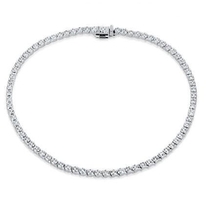 18 kt white gold bracelet with 76 diamonds 5A267W8-1