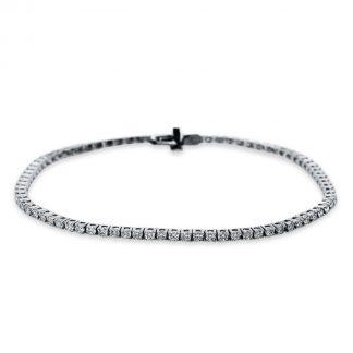18 kt white gold bracelet with 80 diamonds 5B536W8-1