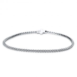18 kt white gold bracelet with 81 diamonds 5B542W8-1