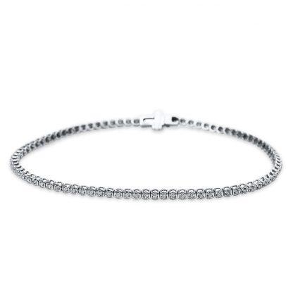 18 kt white gold bracelet with 81 diamonds 5B542W8-1