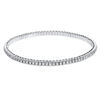 18 kt white gold bracelet with 87 diamonds 5B017W8-31