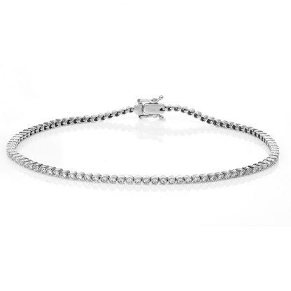 18 kt white gold bracelet with 93 diamonds 5A264W8-4