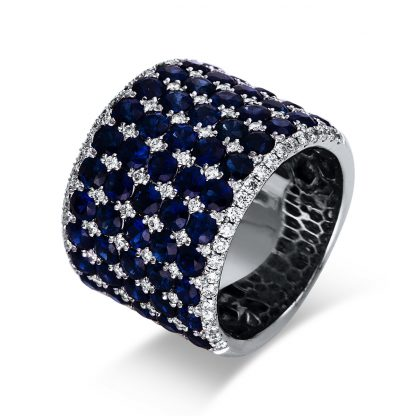 18 kt white gold color stone with 112 diamonds