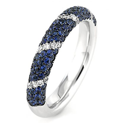 18 kt white gold color stone with 25 diamonds