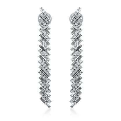 18 kt white gold earrings with 126 diamonds 2H079W8-1