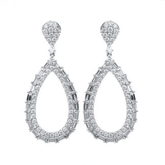 18 kt white gold earrings with 138 diamonds 2D762W8-1
