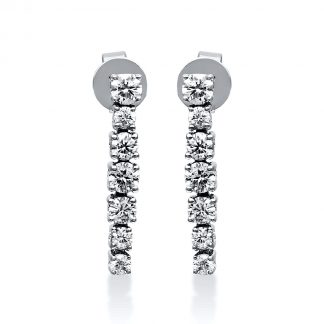 18 kt white gold earrings with 14 diamonds 2E014W8-2