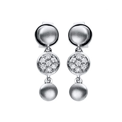 18 kt white gold earrings with 14 diamonds 2F234W8-1