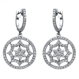 18 kt white gold earrings with 1588 diamonds 2I374W8-1