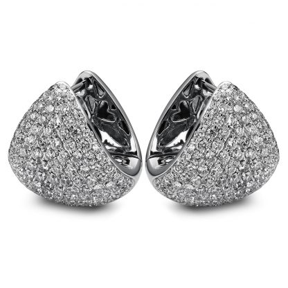 18 kt white gold earrings with 220 diamonds 2A301W8-1