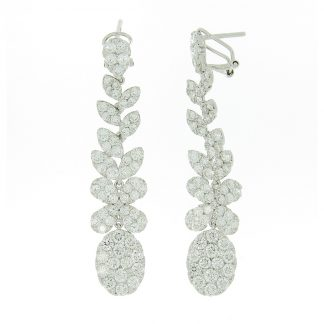 18 kt white gold earrings with 336 diamonds 2E065W8-1