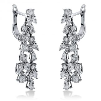 18 kt white gold earrings with 40 diamonds 2I122W8-1