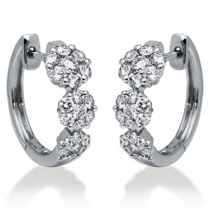 18 kt white gold earrings with 42 diamonds 2I199W8-1