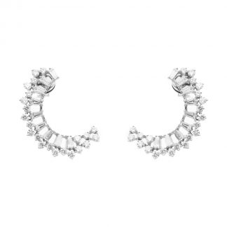 18 kt white gold earrings with 62 diamonds 2D904W8-1