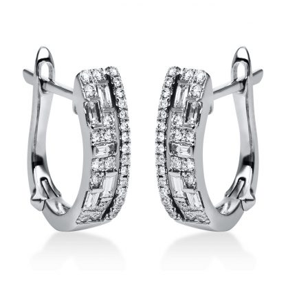 18 kt white gold earrings with 64 diamonds 2G588W8-1