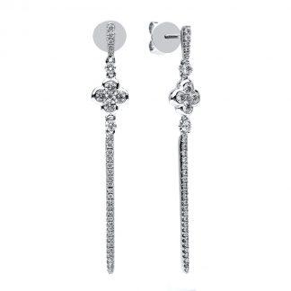 18 kt white gold earrings with 72 diamonds 2B781W8-2