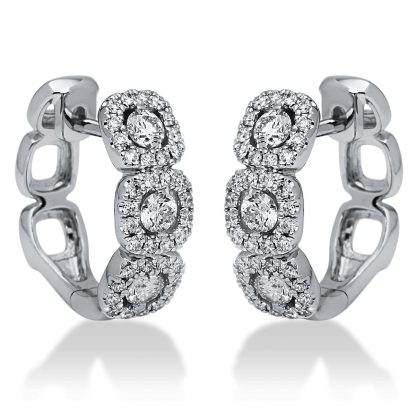18 kt white gold earrings with 78 diamonds 2I194W8-1