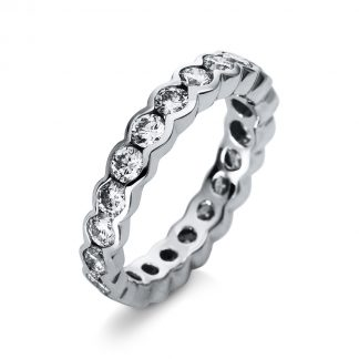 18 kt white gold eternity full with 21 diamonds 1R527W852-1
