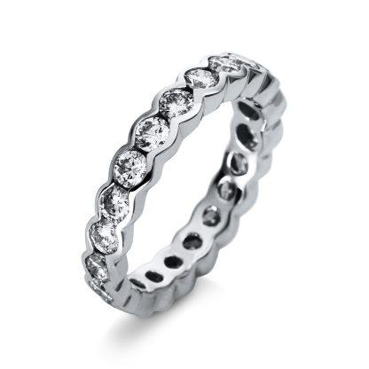 18 kt white gold eternity full with 21 diamonds 1R527W852-1