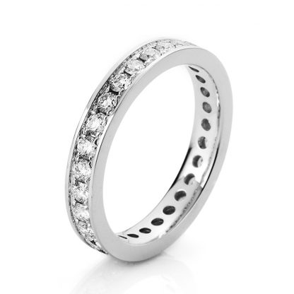 18 kt white gold eternity full with 27 diamonds 1A476W850-2